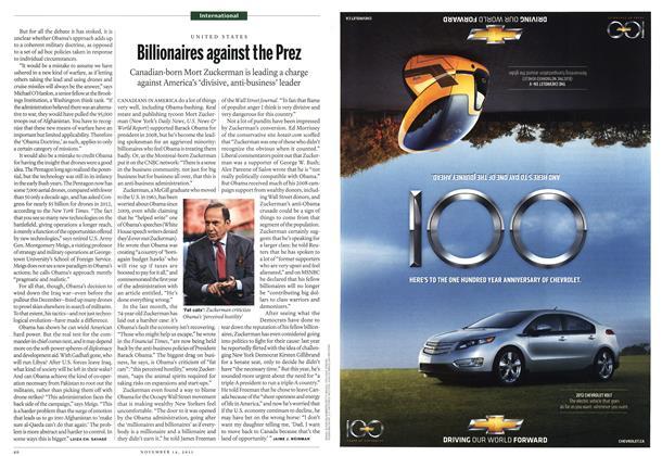 Article Preview: Billionaires against the Prez, November 14th 2011 | Maclean's