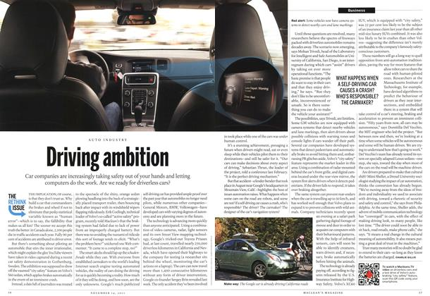 Article Preview: Driving ambition, November 14th 2011 | Maclean's