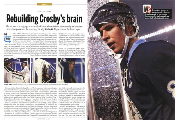 Article Preview: Rebuilding Crosby's brain, November 2011 | Maclean's