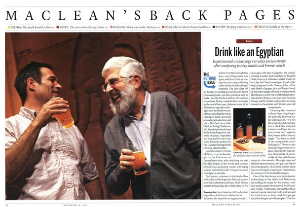 Article Preview: Drink like an Egyptian, November 14th 2011 | Maclean's