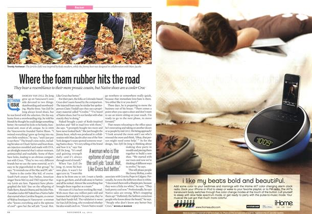 Article Preview: Where the foam rubber hits the road, November 2011 | Maclean's