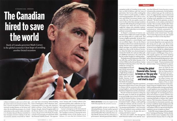 Article Preview: The Canadian hired to save the world, November 2011 | Maclean's