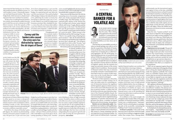 Article Preview: A CENTRAL BANKER FOR A VOLATILE AGE, November 21st 2011 | Maclean's