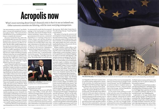 Article Preview: Acropolis now, November 2011 | Maclean's