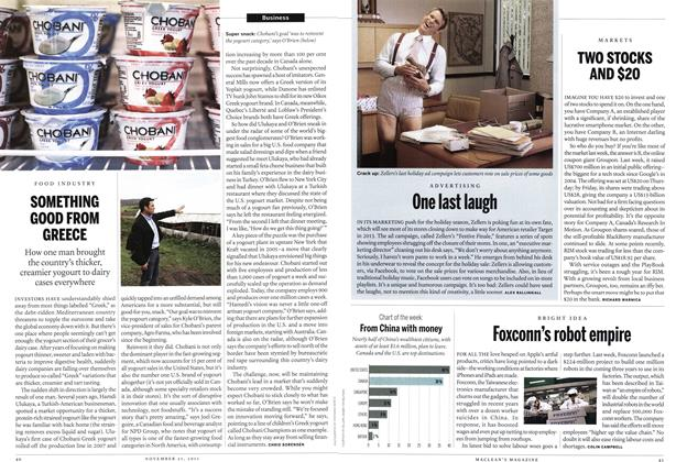 Article Preview: SOMETHING GOOD FROM GREECE, November 2011 | Maclean's