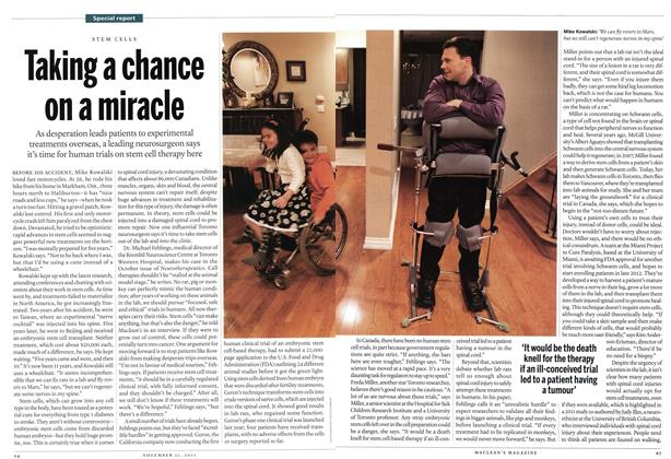 Article Preview: Taking a chance on a miracle, November 2011   Maclean's