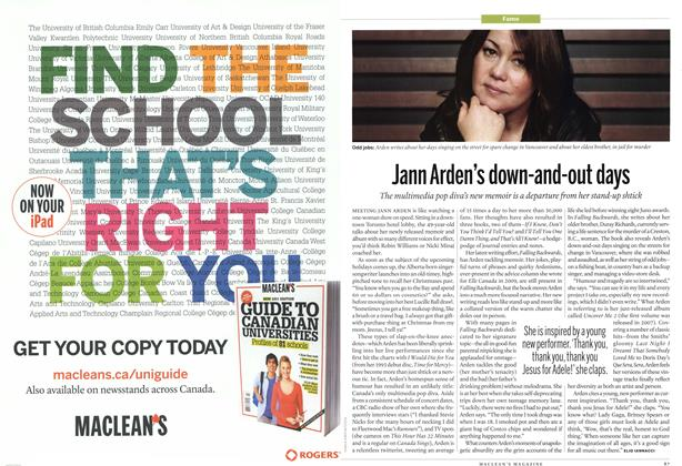Article Preview: Jann Arden's down-and-out days, November 21st 2011 | Maclean's