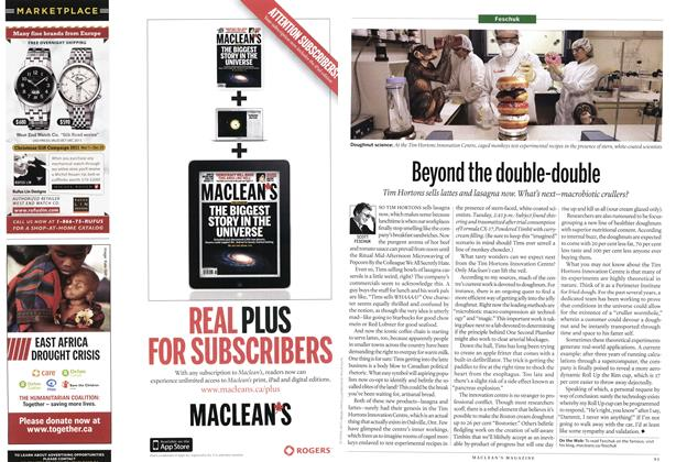 Article Preview: Beyond the double-double, November 21st 2011 | Maclean's