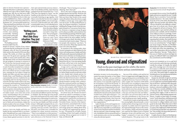 Article Preview: MARITAL RELATIONS Young, divorced and stigmatized, November 2011 | Maclean's