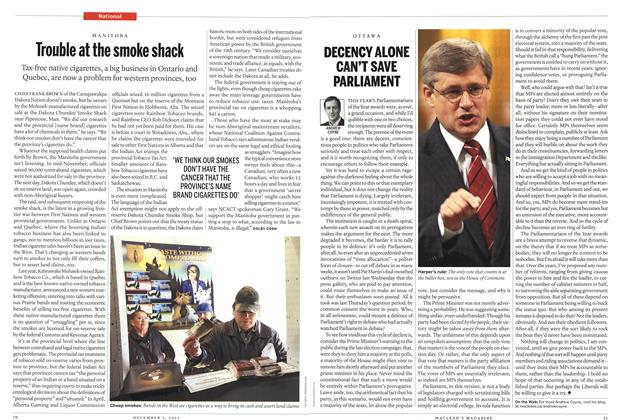 Article Preview: DECENCY ALONE CAN'T SAVE PARLIAMENT, December 5th 2011 | Maclean's