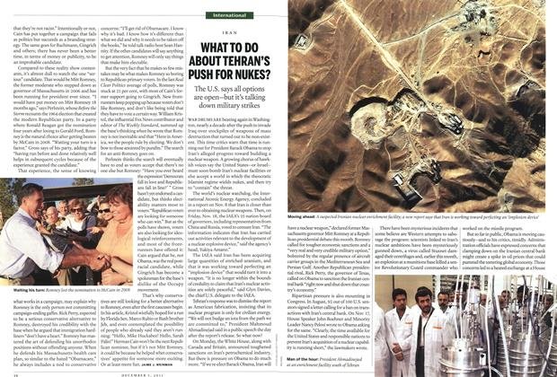 Article Preview: WHAT TO DO ABOUT TEHRAN'S PUSH FOR NUKES?, December 2011 | Maclean's