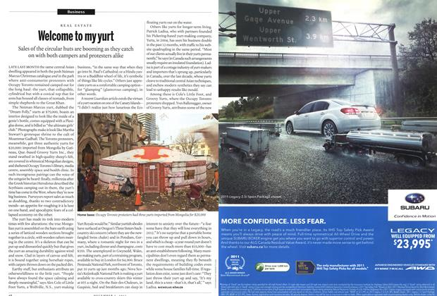 Article Preview: Welcome to my yurt, December 5th 2011 | Maclean's