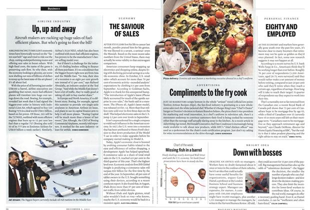 Article Preview: Up, up and away, December 2011 | Maclean's