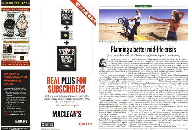 Article Preview: Planning a better mid-life crisis, December 2011 | Maclean's