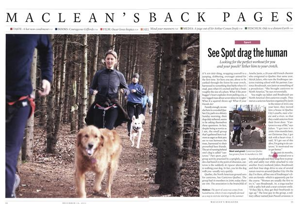 Article Preview: See Spot drag the human, December 2011 | Maclean's