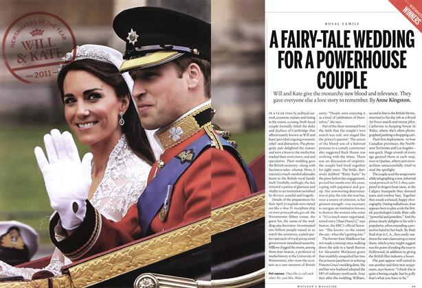 Article Preview: A FAIRY-TALE WEDDING FOR A POWERHOUSE COUPLE, December 2011 | Maclean's