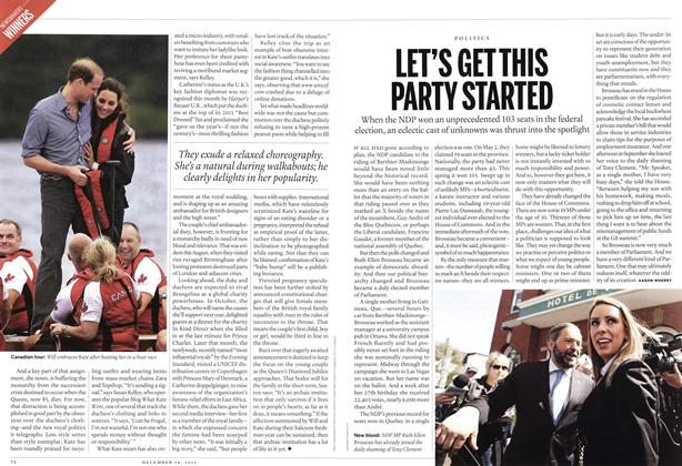 Article Preview: LET'S GET THIS PARTY STARTED, December 12th 2011 | Maclean's