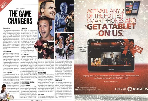 Article Preview: THE GAME CHANGERS, December 12th 2011 | Maclean's