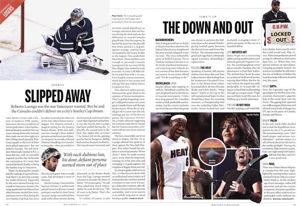 Article Preview: SLIPPED AWAY, December 2011 | Maclean's