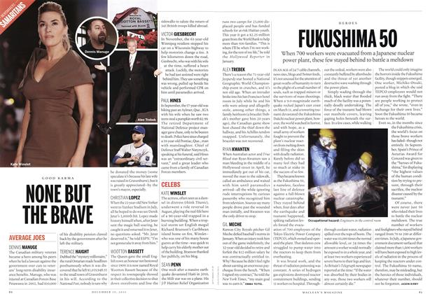 Article Preview: NONE BUT THE BRAVE, December 12th 2011 | Maclean's