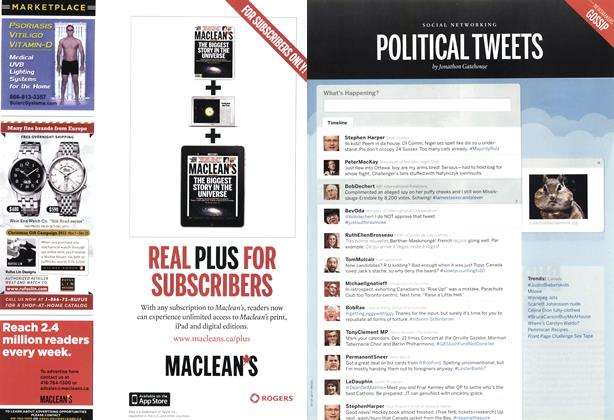 Article Preview: POLITICAL TWEETS, December 2011 | Maclean's