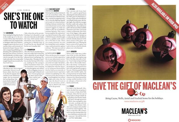Article Preview: SHE'S THE ONE TO WATCH, December 12th 2011 | Maclean's