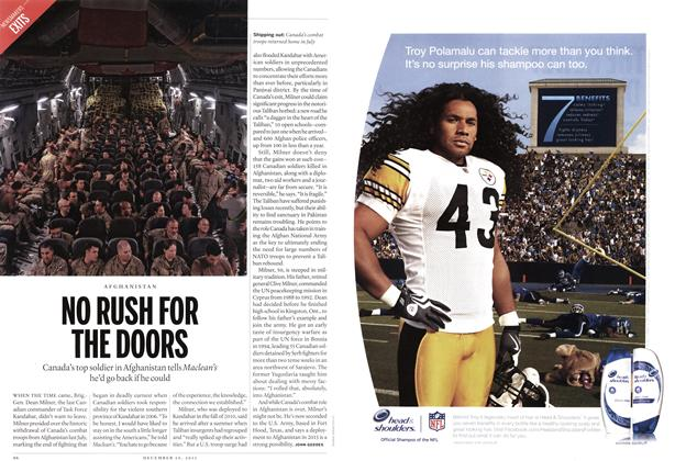 Article Preview: NO RUSH FOR THE DOORS, December 12th 2011 | Maclean's