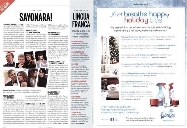 Article Preview: LINGUA FRANCA, December 12th 2011 | Maclean's