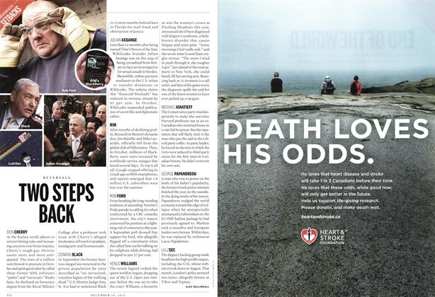Article Preview: TWO STEPS BACK, December 12th 2011 | Maclean's