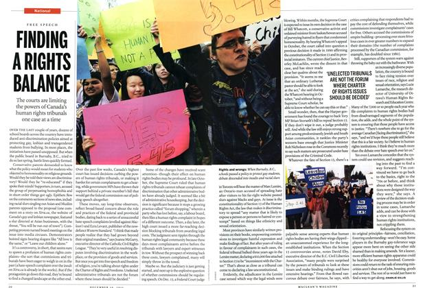 Article Preview: FINDING A RIGHTS BALANCE, December 2011 | Maclean's