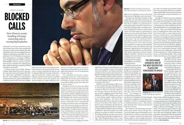 Article Preview: BLOCKED CALLS, December 26th 2011 | Maclean's