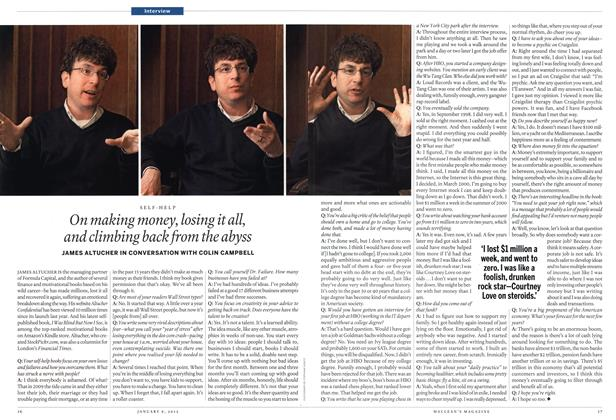 Article Preview: On making money, losing it all, and climbing back from the abyss, January 2012 | Maclean's