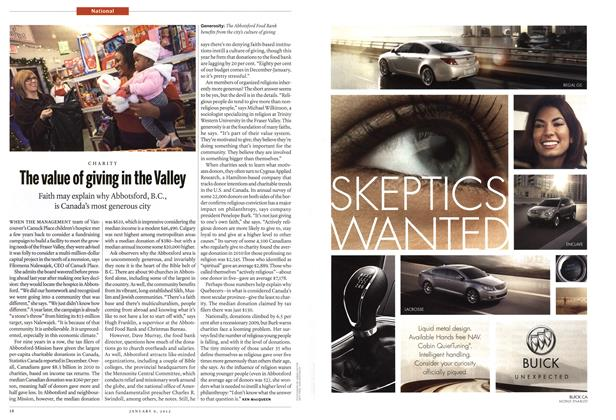 Article Preview: The value of giving in the Valley, January 2012 | Maclean's