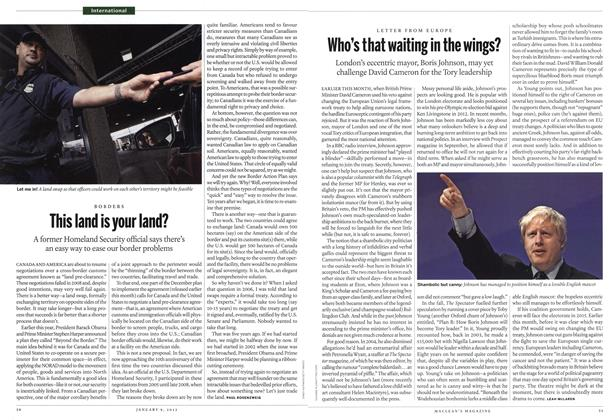 Article Preview: Who's that waiting in the wings?, January 2012 | Maclean's