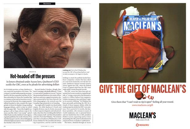 Article Preview: Hot-headed off the presses, January 2012 | Maclean's