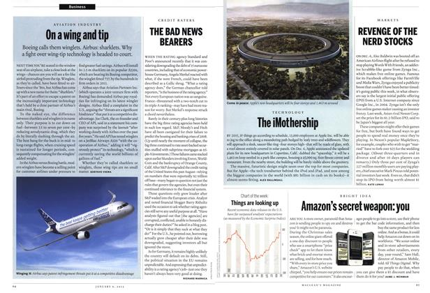 Article Preview: On a wing and tip, January 2012 | Maclean's