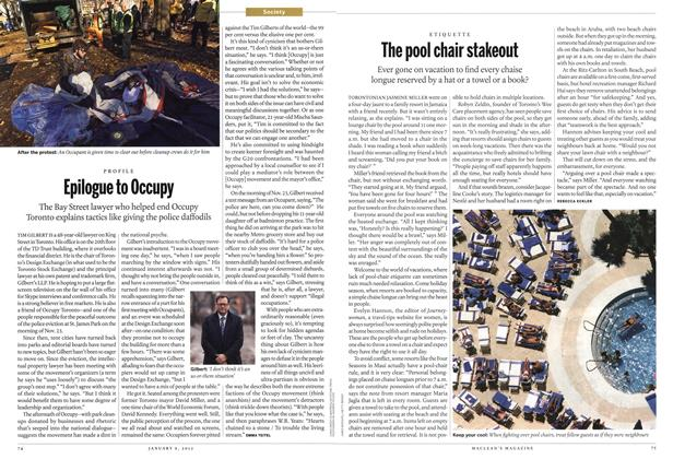 Article Preview: The pool chair stakeout, January 2012 | Maclean's