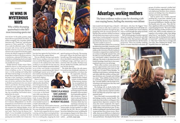 Article Preview: Advantage, working mothers, January 2012 | Maclean's