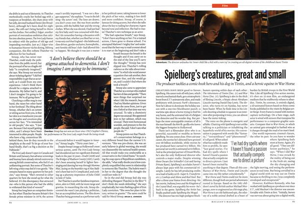 Article Preview: Spielberg's creatures, great and small, January 2012 | Maclean's
