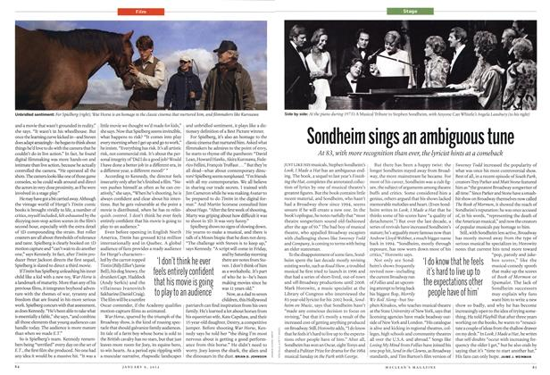Article Preview: Sondheim sings an ambiguous tune, January 2012 | Maclean's