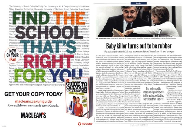 Article Preview: Baby killer turns out to be rubber, January 2012 | Maclean's