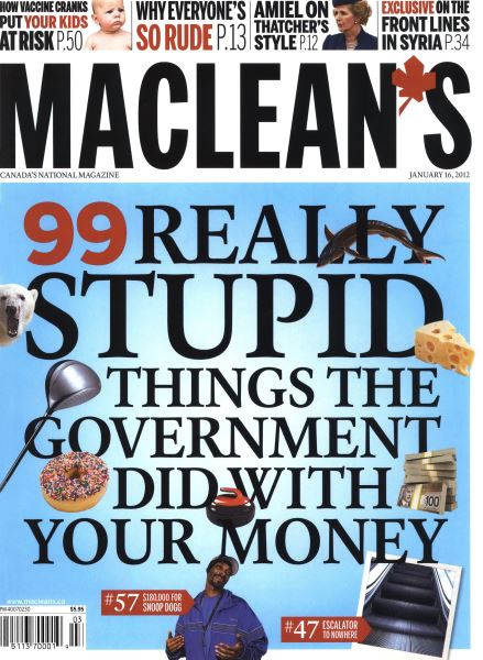 Issue: - January 2012   Maclean's