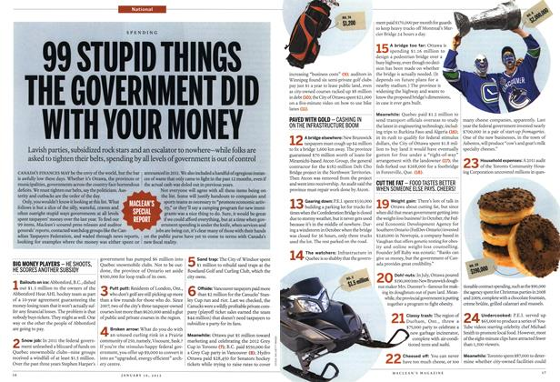 Article Preview: 99 STUPID THINGS THE GOVERNMENT DID WITH YOUR MONEY, January 2012 | Maclean's