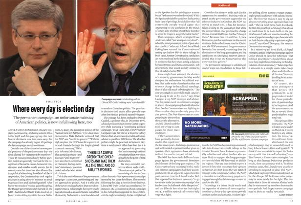 Article Preview: Where every day is election day, January 2012 | Maclean's