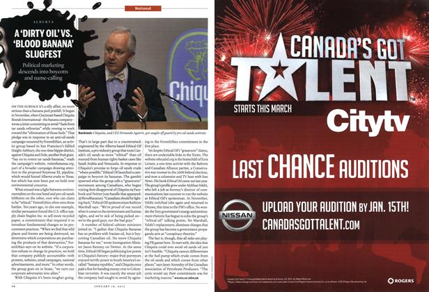 Article Preview: A'DIRTY OIL'VS. 'BLOOD BANANA' SLUGFEST, January 2012   Maclean's