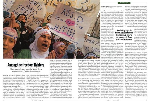 Article Preview: Among the freedom fighters, January 2012 | Maclean's