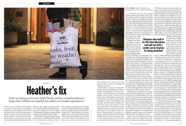Article Preview: Heather's fix, January 2012 | Maclean's