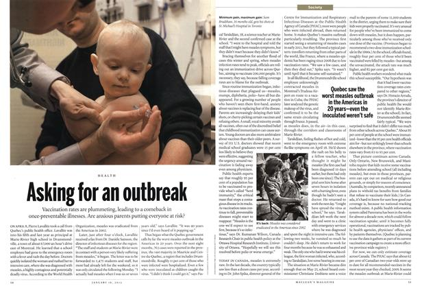 Article Preview: Asking for an outbreak, January 2012 | Maclean's