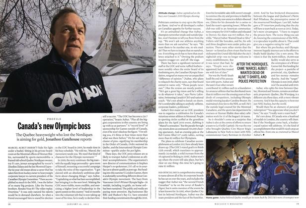 Article Preview: Canada's new Olympic boss, January 2012 | Maclean's
