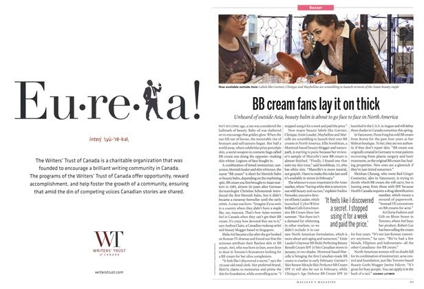 Article Preview: BB cream fans lay it on thick, January 2012 | Maclean's